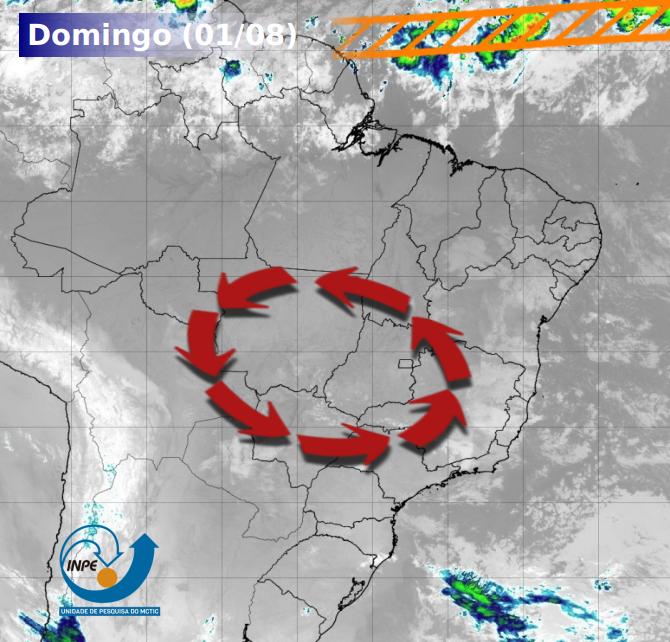 Tempo seguirá seco na maior parte do Brasil
