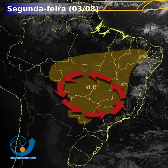 Semana de tempo seco na maior parte do Brasil